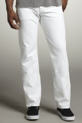 7 For All Mankind Standard Clean White Jeans - Lyst