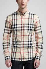 Burberry Brit New Classic Check Buttondown Shirt - Lyst