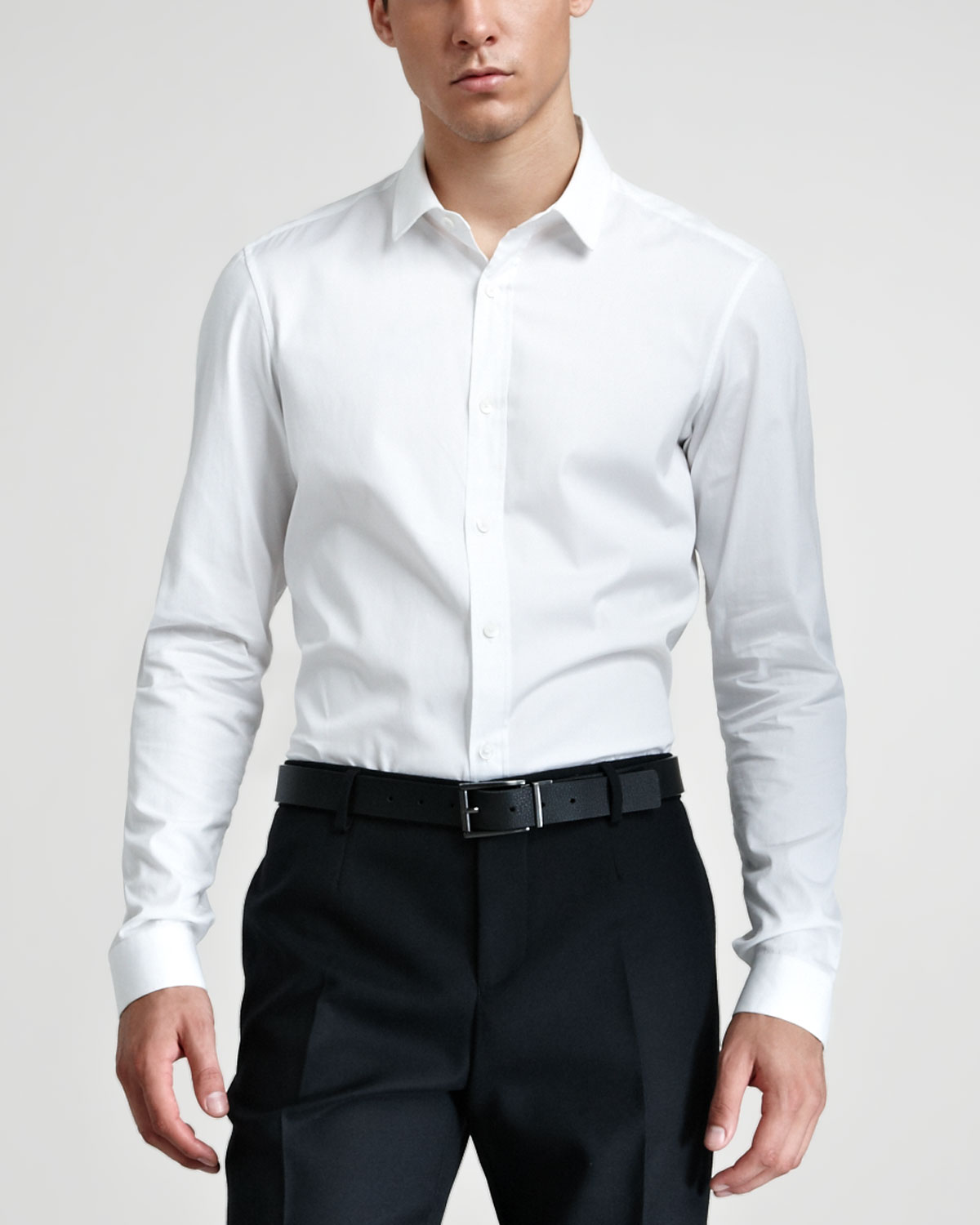 burberry prorsum dress shirt optic white in white for