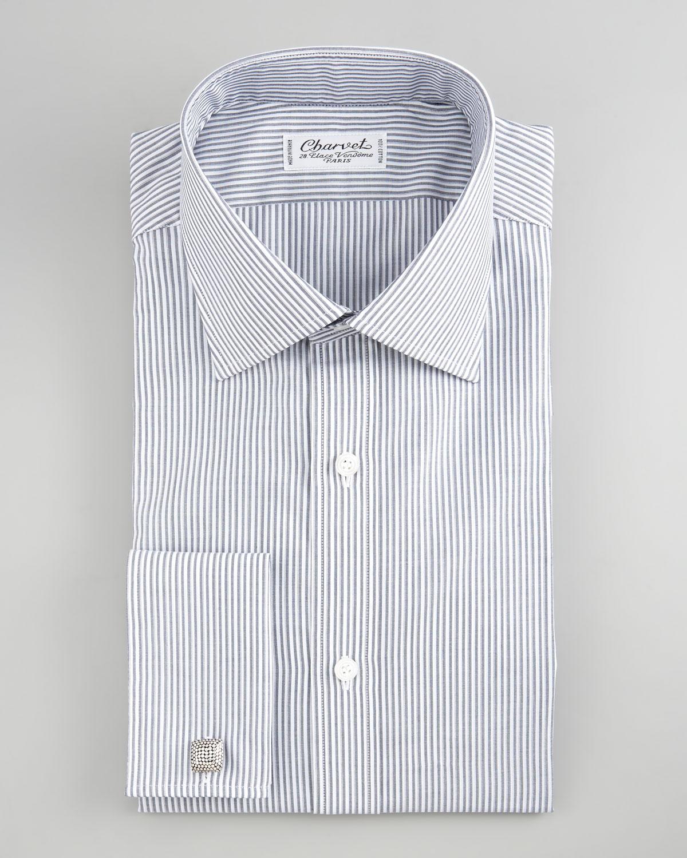 0e8e6313ca52 Charvet Striped French Cuff Dress Shirt in Gray for Men - Lyst