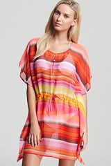 Echo Rainbow Stripe Silky Butterfly Cover Up - Lyst
