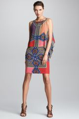 Etro Sleeveless Overlay Dress - Lyst
