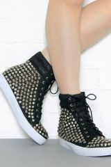 Jeffrey Campbell Alva Hi Studded Wedge Sneakers - Lyst