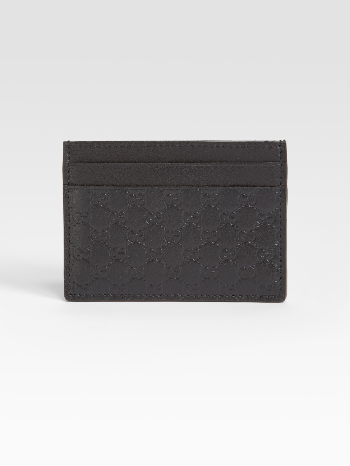 Gucci Microguccissima Leather Card Case in Black for Men   Lyst