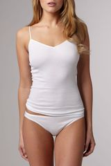 Hanro Cotton Seamless Highcut Briefs  - Lyst