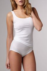 Hanro Cotton Seamless Tank - Lyst