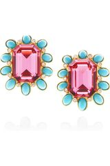 Kenneth Jay Lane Goldplated Swarovski Crystal and Resin Clip Earrings - Lyst