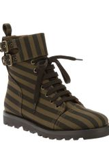 Marc By Marc Jacobs Striped Laceup Boot