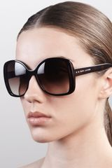 Marc Jacobs Oversized Oval Sunglasses  - Lyst