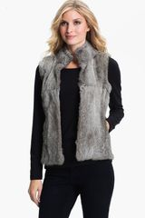 Michael by Michael Kors Genuine Rabbit Fur Vest