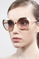 Miu Miu Indentedbottom Sunglasses - Lyst