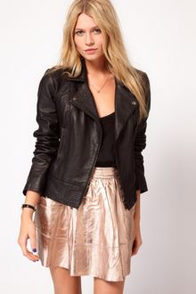 Oasis Stitch Detail Biker Jacket - Lyst