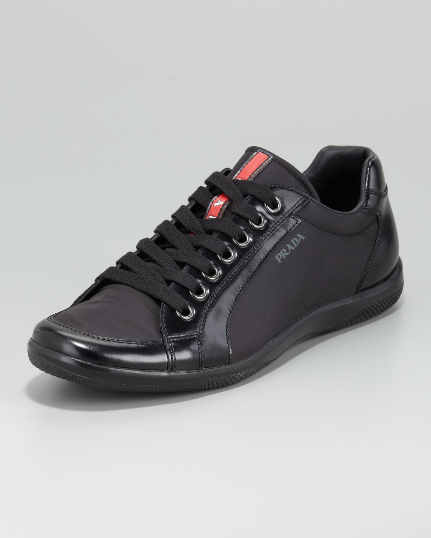 Lyst - Prada Kayak Nylon Sneaker in Black for Men