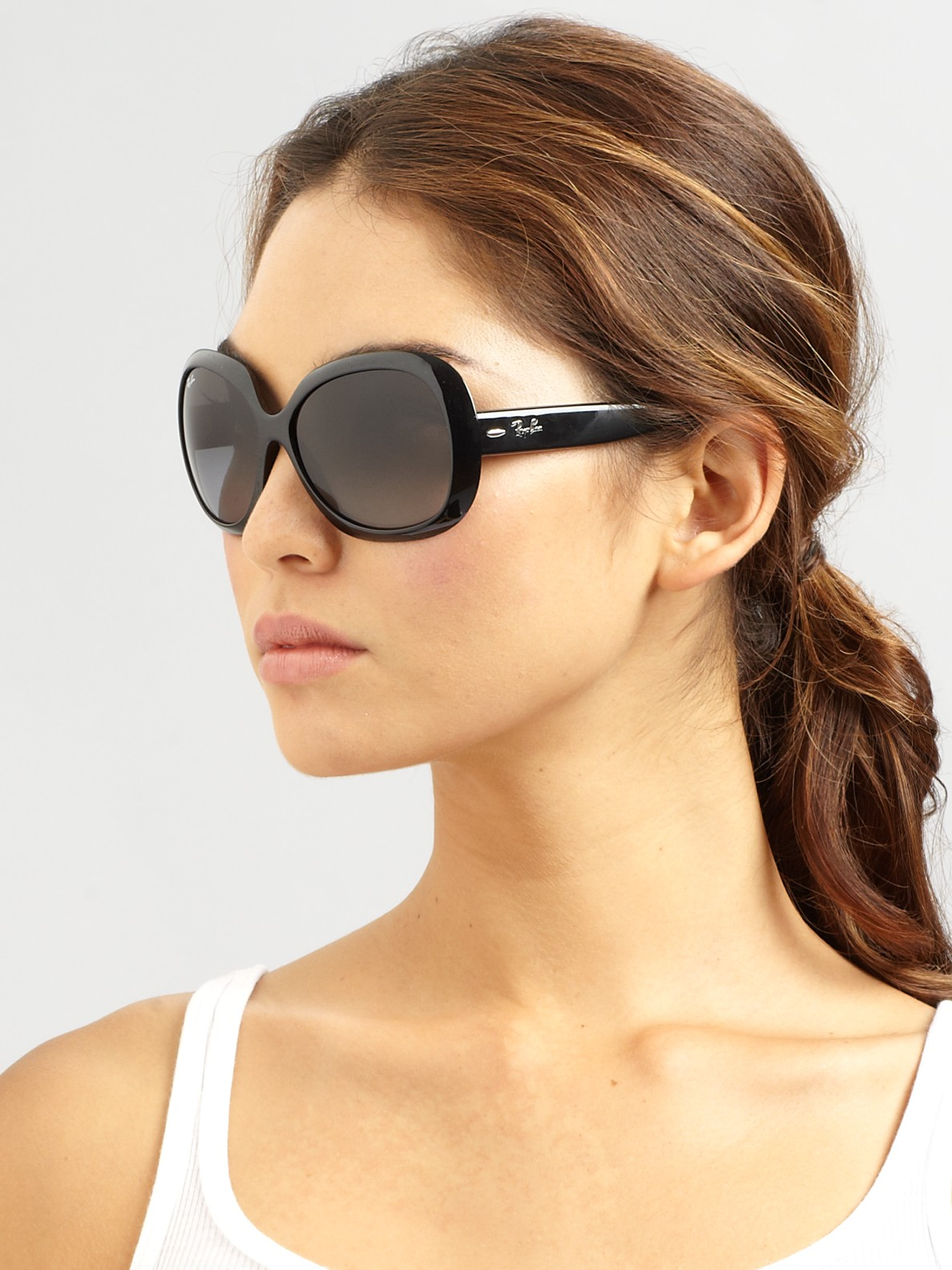a0d4818b48fe0 Ray-Ban Women s Vintage Oversized Round Jackie Ohh Sunglasses ...