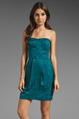 Rebecca Taylor Sequin Silk Strapless Dress - Lyst