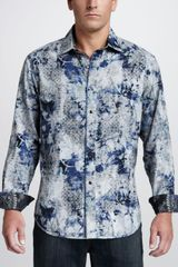 Robert Graham Tahoe Reversible Sport Shirt in Blue for Men - Lyst