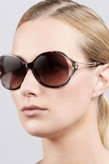 Roberto Cavalli Opentemple Snakeprint Sunglasses   - Lyst