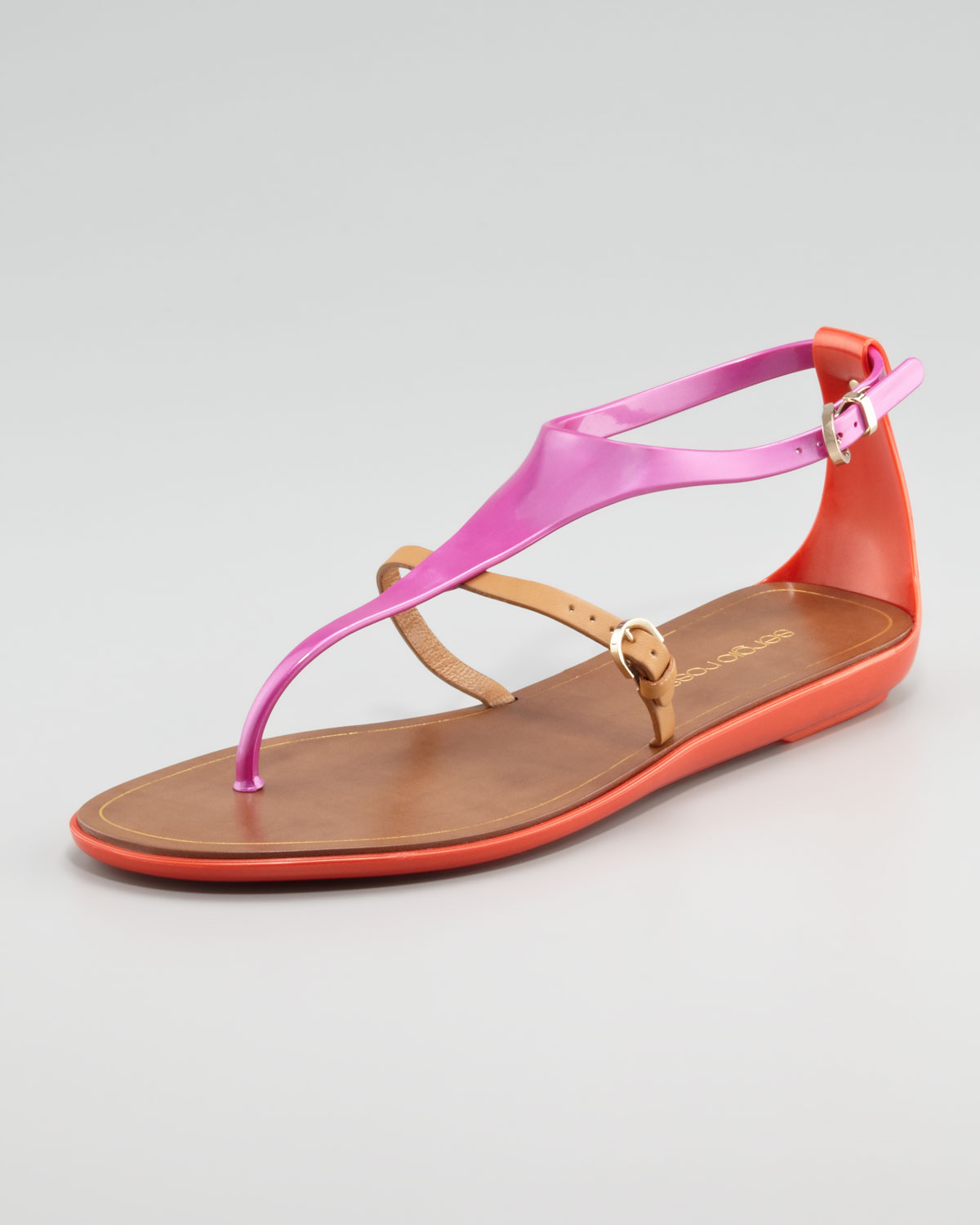 low shipping for sale best prices cheap online Sergio Rossi Rubber Thong Sandals CxEjiA6