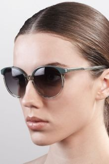 Stella Mccartney Sunglasses Thin Round Plastic Sunglasses  - Lyst