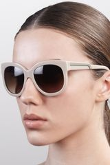 Stella Mccartney Sunglasses Rounded Plastic Sunglasses Hazelnut - Lyst