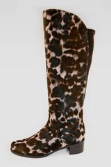 Stuart Weitzman Womens Calf Hair Knee Boot - Lyst