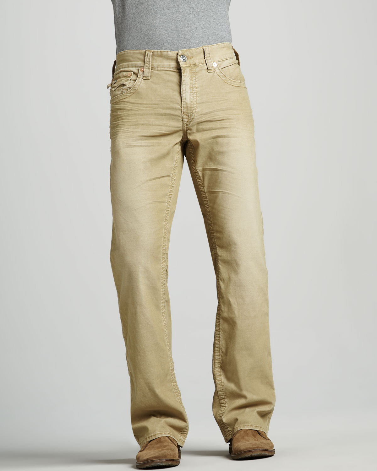 True religion Ricky Corduroy Pants in Natural for Men | Lyst