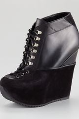 Yves Saint Laurent Ariane Ice Skating Wedge Boot - Lyst