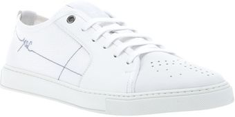 Yves Saint Laurent Perforated Laceup Sneaker - Lyst