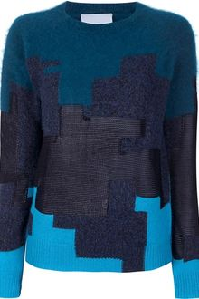 3.1 Phillip Lim Jigsaw Print Sweater - Lyst