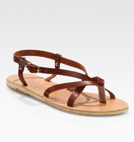 Ancient Greek Sandals Semele Strappy Leather Sandals In