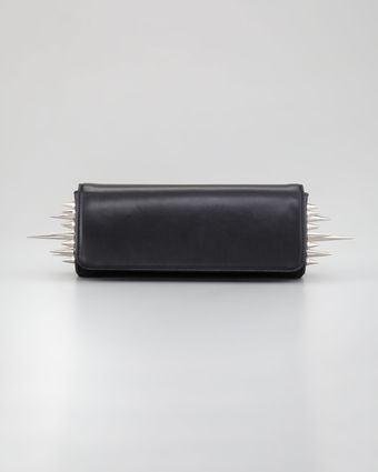 Christian Louboutin Spiked Marquise Clutch Bag Black - Lyst