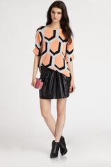 Diane Von Furstenberg Cici Hexagon Sweater - Lyst