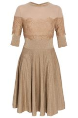 Elie Saab Three-Quarter Sleeved Dress - Lyst