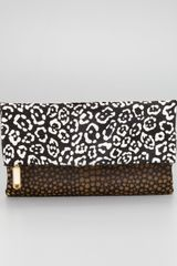 Fendi Chameleon Calf Hair Foldover Clutch Bag - Lyst