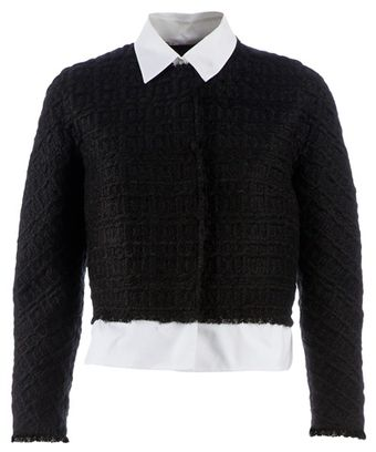 Giambattista Valli Checked Knit Sweater - Lyst