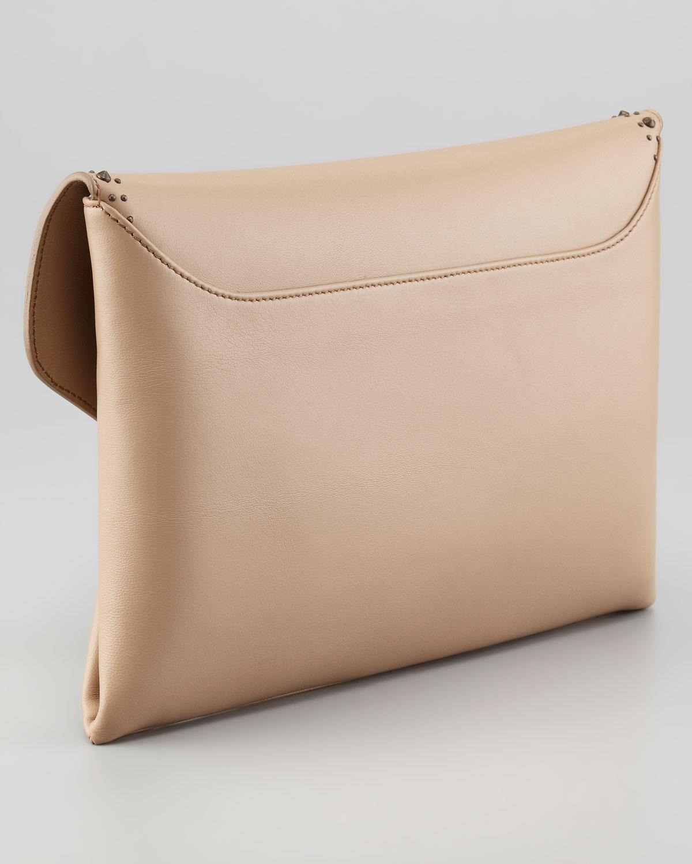 edddf5478d Givenchy Antigona Studded Envelope Clutch Bag Linen in Natural - Lyst