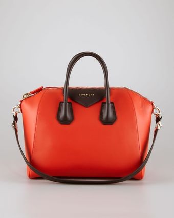 Givenchy Antigona Boston Medium Satchel Bag Redblack - Lyst