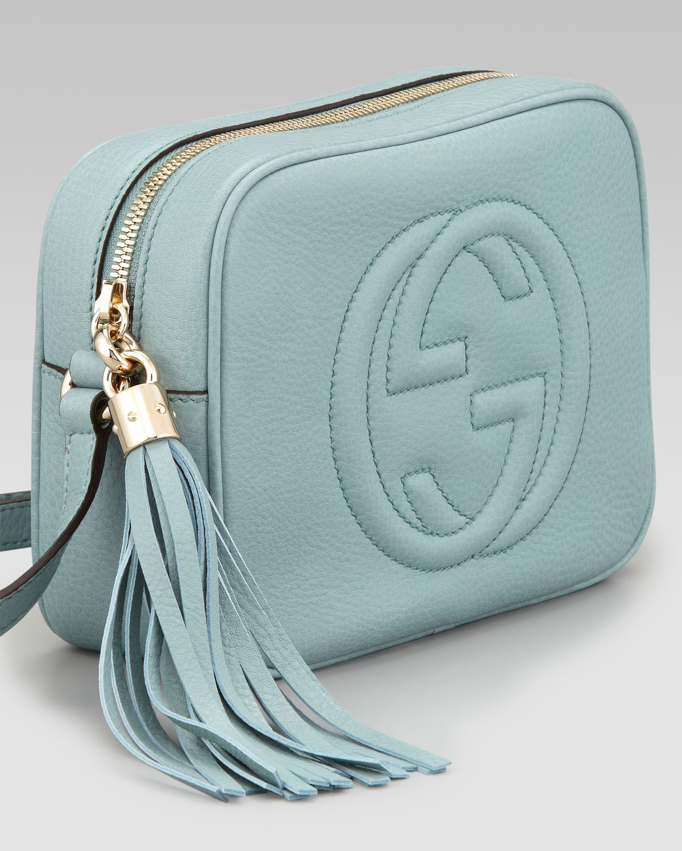 f1b328ac1ef504 Gucci Soho Leather Disco Bag Pool Water in Green - Lyst