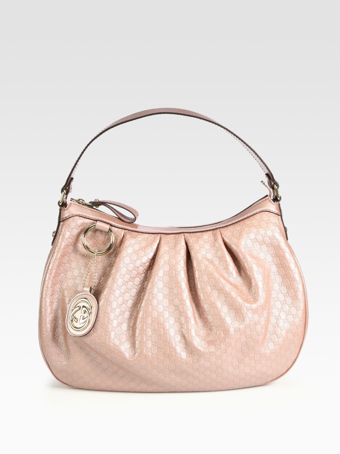 01c30ccce0a Lyst - Gucci Sukey Medium Metallic Microguccissima Leather Hobo in ...