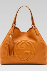Gucci Soho Leather Shoulder Bag Sunflower - Lyst