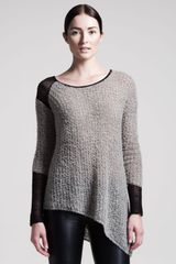 Helmut Lang Flecked Boucle Sweater - Lyst