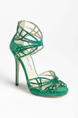 Jimmy Choo Diva Sandal in Green (jade) - Lyst