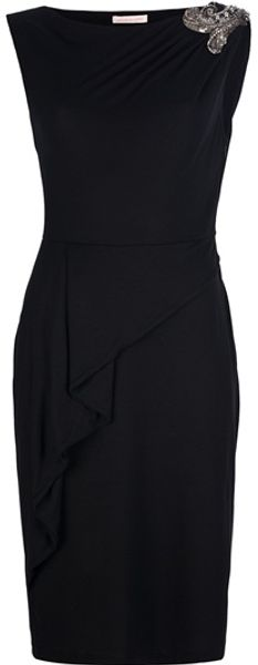 Matthew Williamson Beaded Ruched Shoulder Dress - Lyst