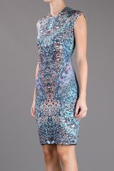 Mcq By Alexander Mcqueen Kaleidoscope Print Dress in Multicolor (blue) - Lyst