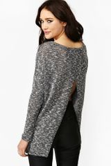 Nasty Gal Mixed Split Knit - Lyst