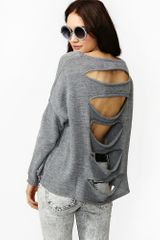 Nasty Gal Ripped Knit - Lyst