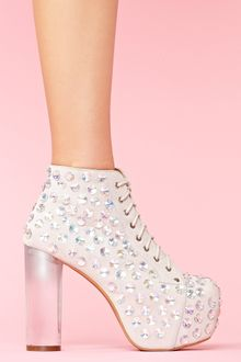 Nasty Gal Lita Jeweled Platform Boot - Lyst