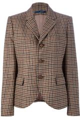 Ralph Lauren Blue Label Checked Blazer Jacket