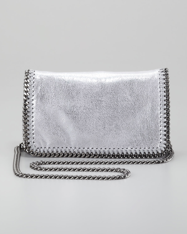 d5e0013b0e Lyst - Stella McCartney Falabella Crossbody Bag Silver in Gray
