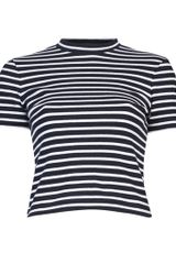 T By Alexander Wang Striped Cotton Top - Lyst